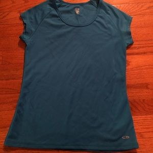 Champion Short-Sleeve Athletic Top Teal Sz S